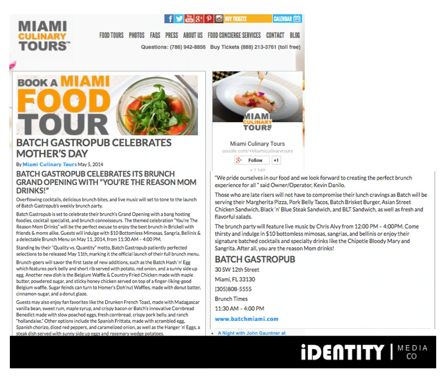 BATCH miami culinary tours